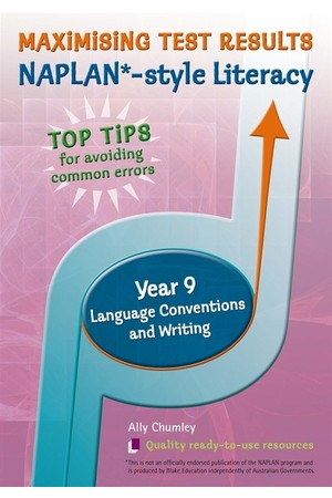 Maximising Test Results - NAPLAN*-style Literacy: Year 9 - Language Conventions and Writing