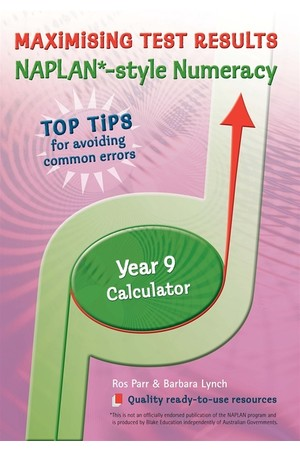 Maximising Test Results - NAPLAN*-style Numeracy: Year 9 - Calculator