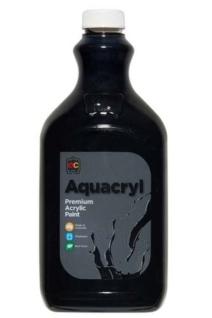 Aquacryl Premium Acrylic Paint 2L - Black