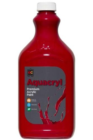 Aquacryl Premium Acrylic Paint 2L - Cool Red