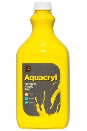 Aquacryl Premium Acrylic Paint 2L - Cool Yellow