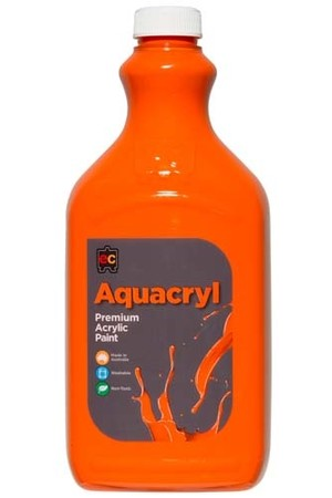 Aquacryl Premium Acrylic Paint 2L - Orange