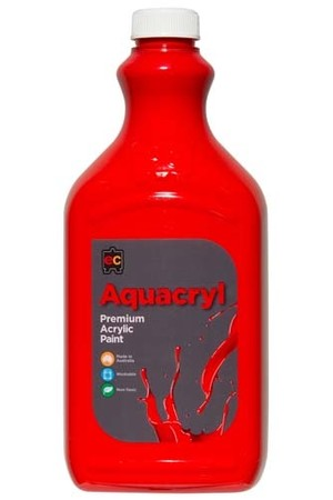 Aquacryl Premium Acrylic Paint 2L - Warm Red