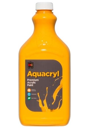 Aquacryl Premium Acrylic Paint 2L - Warm Yellow