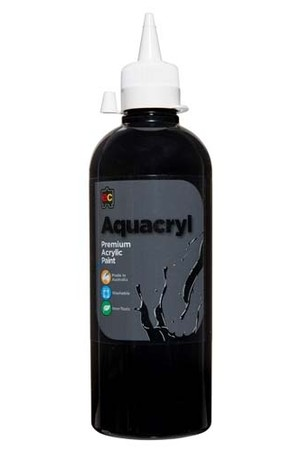 Aquacryl Premium Acrylic Paint 500mL - Black