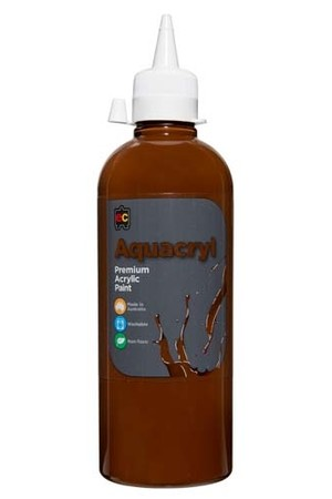 Aquacryl Premium Acrylic Paint 500mL - Burnt Umber