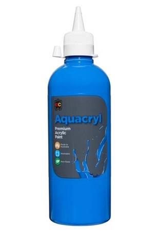 Aquacryl Premium Acrylic Paint 500mL - Cobalt