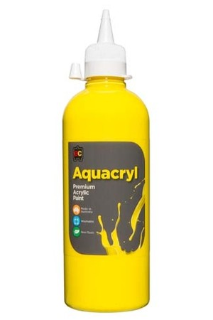 Aquacryl Premium Acrylic Paint 500mL - Cool Yellow