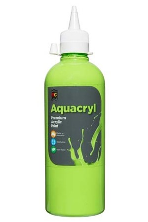 Aquacryl Premium Acrylic Paint 500mL - Light Green