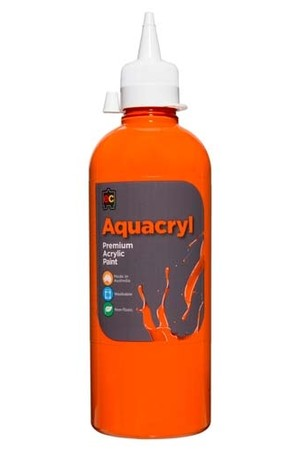 Aquacryl Premium Acrylic Paint 500mL - Orange