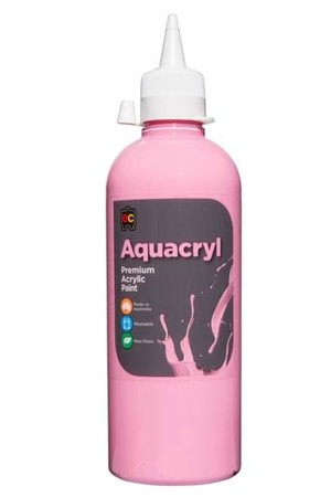 Aquacryl Premium Acrylic Paint 500mL - Pink