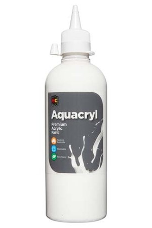 Aquacryl Premium Acrylic Paint 500mL - White
