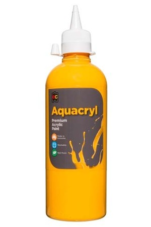Aquacryl Premium Acrylic Paint 500mL - Warm Yellow