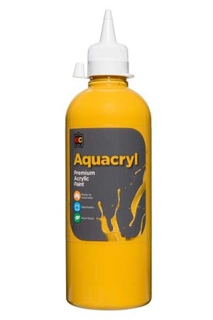 Aquacryl Premium Acrylic Paint 500mL - Yellow Oxide
