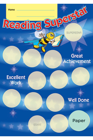 Reading Superstar Achievement Cards - Paper