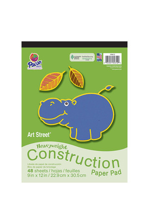 Heavy Duty Construction Paper Pad: Large