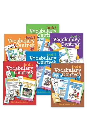 Blake's Learning Centres - Vocabulary Centres: Pack (1 of each Title)