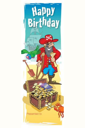 Happy Birthday Pirate Bookmarks