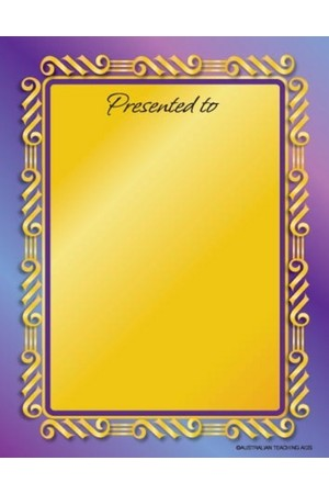 Formal Presentation Bookplate - Large Bookplates