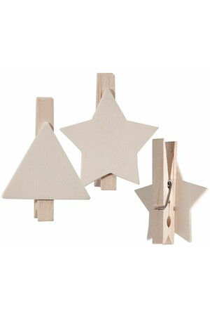 Wooden Peg Shapes - Christmas: Pack of 10