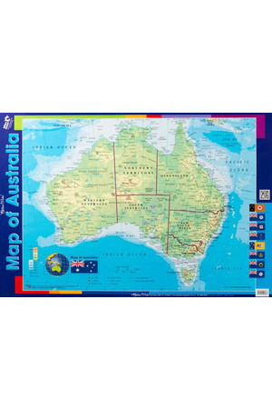 Map of Australia Double-Sided Chart