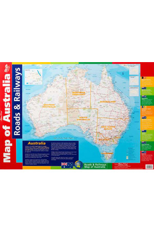 Map of Australia Roads & Rail/Flora & Fauna Double-Sided Chart