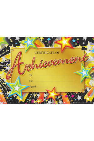 Achievement Merit Certificate - Pack of 20 Cards