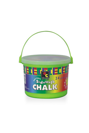 Sidewalk Chalk Bucket - 24 Pieces