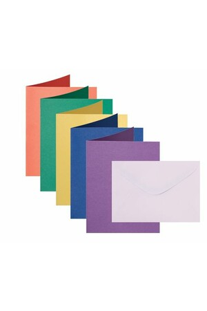 Cards & Envelopes - Coloured (Pack of 30)