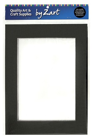 Pre-Cut Cardboard Mounts - Black and White: A3 (Pack of 10)
