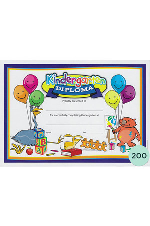 Kindergarten Diploma Merit Certificate - Pack of 200