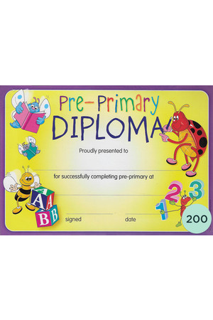 Pre-Primary Diploma Merit Certificate - Pack of 200