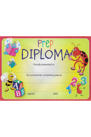 Prep Diploma Merit Certificate - Pack of 35