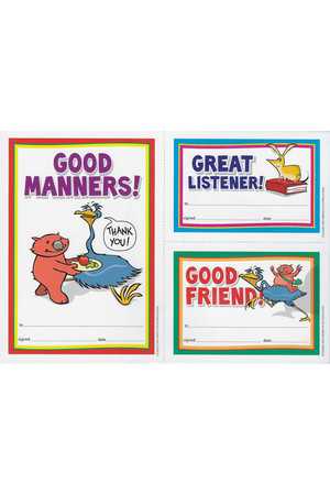 Early Years Manners Merit Certificate - Pack of 35