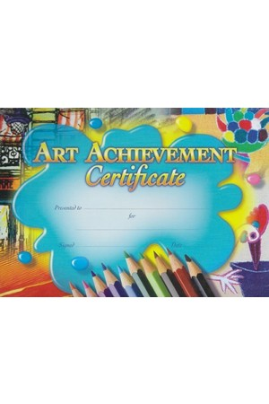 Art Achievement Certificate - Pack of 35