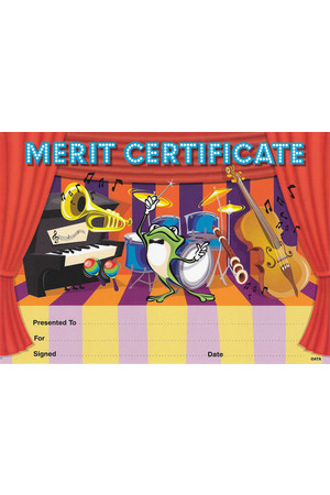 Music Merit Certificate - Pack of 35