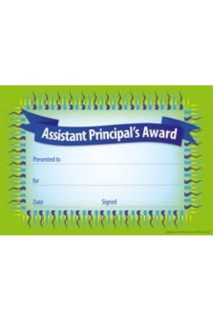 Assistant Principal's Award Certificate - Pack of 35