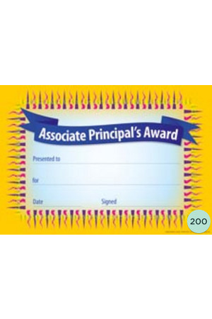 Associate Principal's Award Certificate - Pack of 200