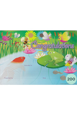 Garden Pond Merit Certificate - Pack of 200