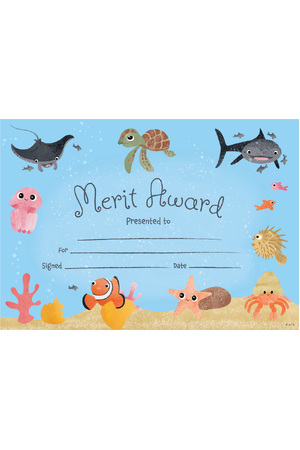 Oceans Merit Certificate - Pack of 35