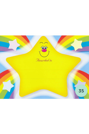 Rainbow Star Merit Certificate - Pack of 35