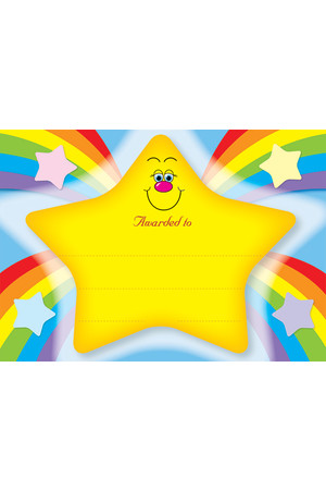 Rainbow Star Merit Certificate - Pack of 20 Cards