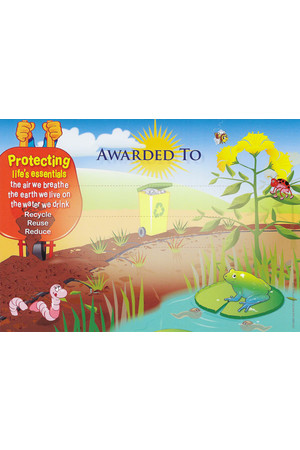 Caring For Our Environment Merit Certificate - Pack of 20 Cards