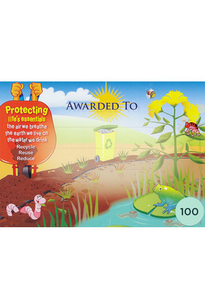 Caring For Our Environment Merit Certificate - Pack of 100 Cards