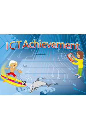 ICT Achievement Award Merit Certificate  - Pack of 35
