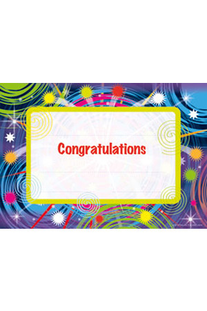 Congratulations Certificate: Paper - Pack of 200