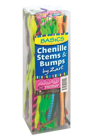 Basics - Chenille Stems & Bumps (Pack of 200)