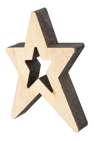 Wooden Stars - Pack of 12