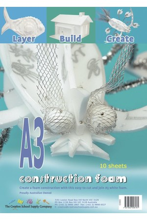 Construction Foam (A3) - Pack of 10
