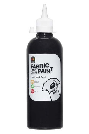 Fabric And Craft Paint 500ml - Black